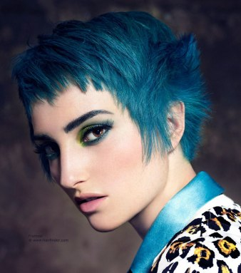 short-haircut-blue